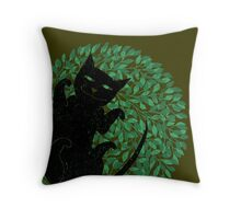 Summer cat Throw Pillow