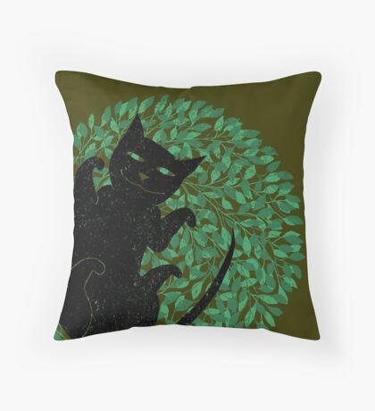 Summer cat Throw Pillow