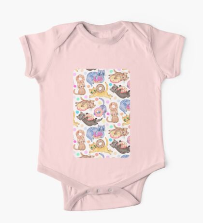 Sprinkles on Donuts and Whiskers on Kittens One Piece - Short Sleeve