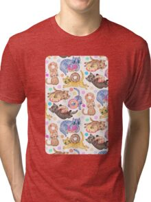 Sprinkles on Donuts and Whiskers on Kittens Tri-blend T-Shirt