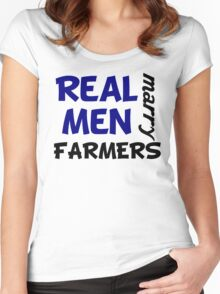 Real Men Marry Farmers Women's Fitted Scoop T-Shirt