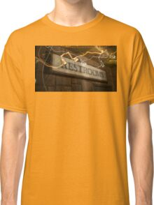 Scribble Restroom Sign Classic T-Shirt