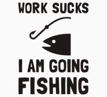 Work Sucks Fishing One Piece - Long Sleeve