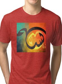 Arabic Calligraphy art abstract Tri-blend T-Shirt