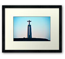 Statue of Christ overlooking Lisbon, Portugal Framed Print
