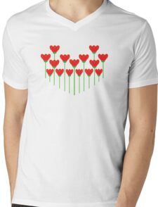 LET YOUR LOVE GROW Mens V-Neck T-Shirt