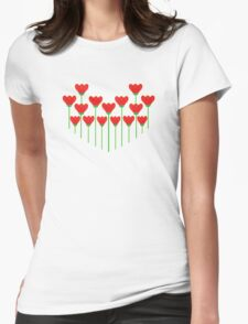 LET YOUR LOVE GROW Womens Fitted T-Shirt