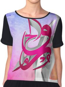 3D Arabic Calligraphy abstract art Chiffon Top