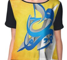 3D Arabic Calligraphy art abstract Chiffon Top