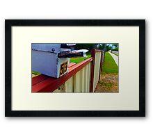 mail box Framed Print