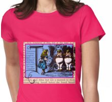 Alice in Wonderland and Through the Looking Glass Alphabet T Womens Fitted T-Shirt