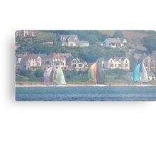 Boats in Water Colour  - Donegal - Buncrana Ireland Metal Print