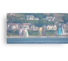 Boats in Water Colour  - Donegal - Buncrana Ireland Canvas Print