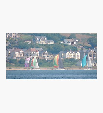 Boats in Water Colour  - Donegal - Buncrana Ireland Photographic Print