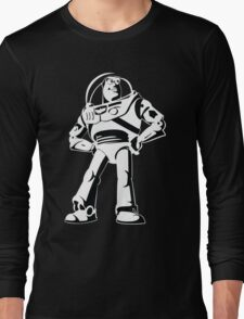 Buzz Lightyear Black and White Vector Long Sleeve T-Shirt