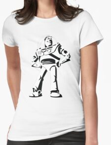 Buzz Lightyear Black and White Vector Womens Fitted T-Shirt