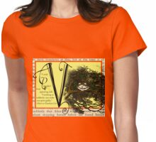 Alice in Wonderland and Through the Looking Glass Alphabet V Womens Fitted T-Shirt