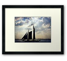 Schooner, New York Framed Print