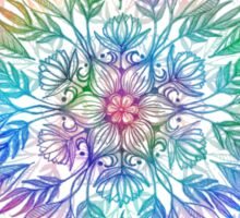 Nature Mandala in Rainbow Hues Sticker
