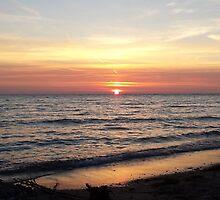Sunset Over Lake Huron by liascloset
