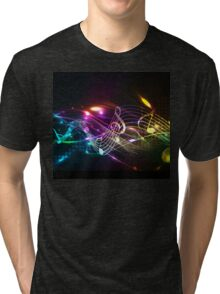 Music Notes in Color for Music-lovers Tri-blend T-Shirt