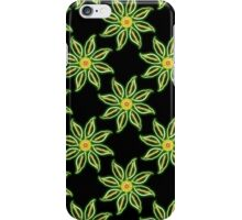 Neon Flower in Yellow & Green iPhone Case/Skin