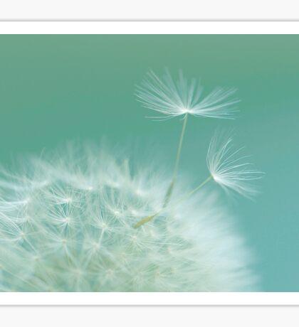 Green Dandelion Sticker