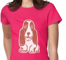 Basset Hound II Womens Fitted T-Shirt