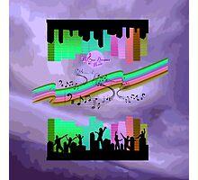 Music Neon Nights Photographic Print