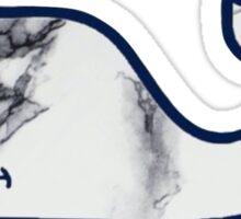 Marble Whale- plain Sticker