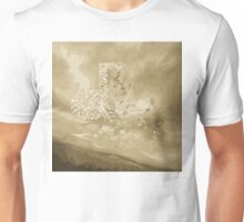 Gold Music Notes Abstract Unisex T-Shirt