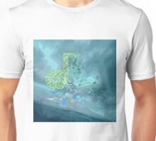 Green & Blue Music Notes Abstract 2 Unisex T-Shirt