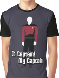 Oh Captain! My Captain! - Jean-Luc Picard - Star Trek Graphic T-Shirt
