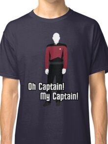 Oh Captain! My Captain! - Jean-Luc Picard - Star Trek Classic T-Shirt