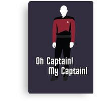 Oh Captain! My Captain! - Jean-Luc Picard - Star Trek Canvas Print
