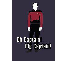 Oh Captain! My Captain! - Jean-Luc Picard - Star Trek Photographic Print