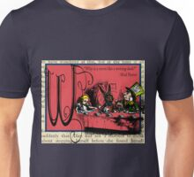 Alice in Wonderland and Through the Looking Glass Alphabet W Unisex T-Shirt