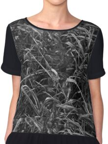 Black and White Weeds Chiffon Top