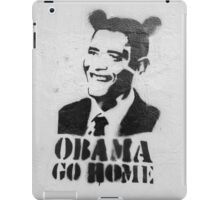 Graffiti Disney Obama go home on white wall iPad Case/Skin