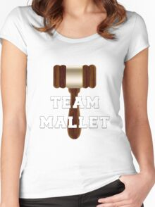 Team Mallet Women's Fitted Scoop T-Shirt