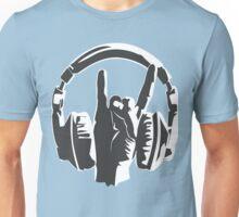 metal music fans headset dj Unisex T-Shirt