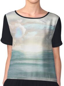Ocean Daydreaming  Chiffon Top