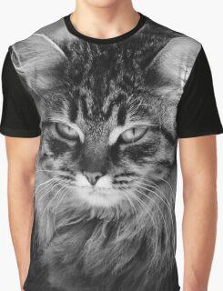 grumpy or annoyed b&w Graphic T-Shirt