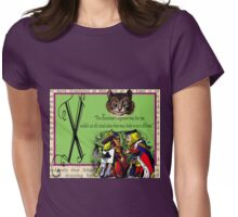 Alice in Wonderland and Through the Looking Glass Alphabet X Womens Fitted T-Shirt