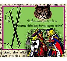 Alice in Wonderland and Through the Looking Glass Alphabet X Photographic Print