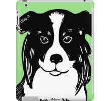 Border Collie Printmaking Art iPad Case/Skin