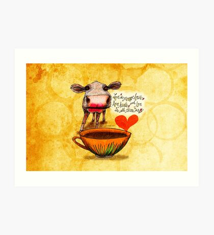 What my Coffee says to me February 16, 2016 Art Print