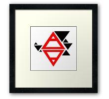 Air&Earth (AV) triangles Framed Print