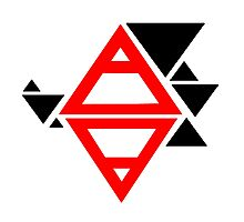 Air&Earth (AV) triangles Photographic Print