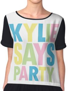 Kylie Minogue - Kylie Says Party Chiffon Top